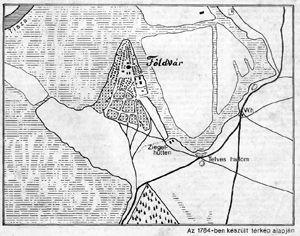 1784-ből származó térkép